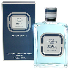 ロイヤル コペンハーゲン ムスク アフターシェーブ 240ml ROYAL COPENHAGEN MUSK FRAGRANCE AFTER SHAVE LOTION APRES RASAGE MUSC