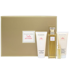 フィフスアベニュー (セット) (箱なし)  5TH AVENUE EAU DE PARFUM/PARFUM/MOISTURIZING BODY LOTION/HYDRATING CREAM CLEANSER