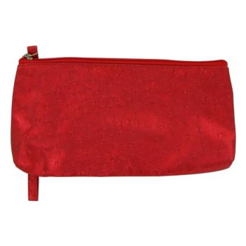 Betsey JohnsonBetsey Johnson by Betsey Johnson For Women Faux Ostrich Red Cosmetic Bag 5
