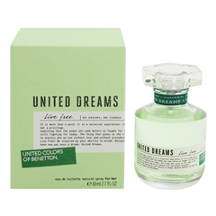 ユナイテッドドリーム ライブフリー EDT・SP 80ml UNITED DREAMS LIVE FREE EAU DE TOILETTE SPRAY
